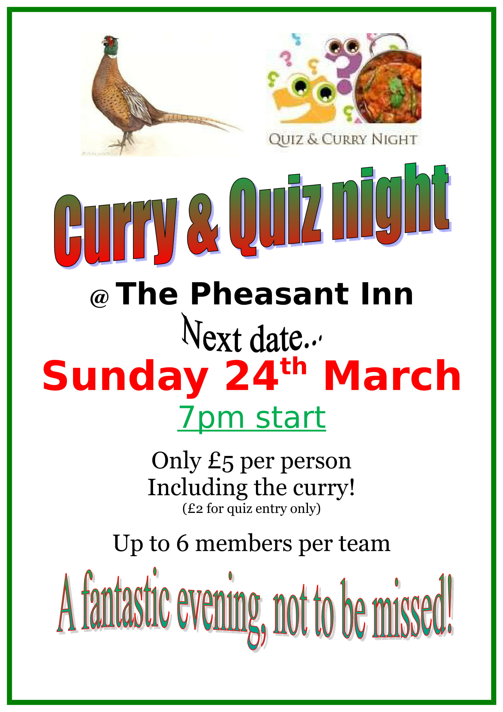 curry and quiz